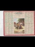 CAL361   ALMANACH  De  1940.. RETOUR  DES  CHAMPS  MOULIN BROUETTE  FEMME ENFANTS  .     +...Allier - Calendars