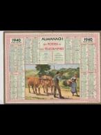 CAL362   ALMANACH  De  1940...les Jeunes Promis  Paysan Femme Boeufs .     +...hérault - Calendars