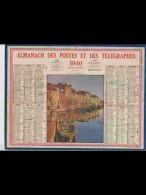 CAL363   ALMANACH  De  1940.. MARTIGUES  PORT  Signé  MICHAUT.     +.... - Calendars