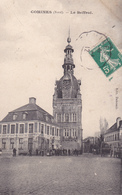 59. COMINES. CPA . ANIMATION DEVANT LE BEFFROI. ANNEE 1912 - Other Municipalities