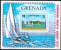 A0819 GRENADA 1973, SG MS572  Carriacou Regatta, Yachts,  MNH - Grenada (1974-...)