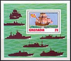 A0829 GRENADA 1976, MS840 Ships, Santa Maria,  MNH - Grenada (1974-...)
