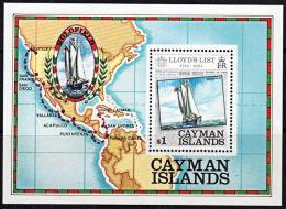 A5494 CAYMAN ISLANDS 1984, SG MS590 250th Anniv,  Of 'Lloyd's List', Ship,  MNH - Cayman Islands