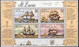 A5495 SAINT LUCIA 1973, SG  MS356  Sailing SHips,  MNH - St.Lucia (1979-...)