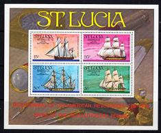 A5497 SAINT LUCIA 1976, SG MS414 Bicentenary American Revolution,  Sailing Ships,  MNH - St.Lucia (1979-...)