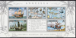 C5080 ANGUILLA 1973, SG MS164 Columbus Discover The West Indies,  MNH - Anguilla (1968-...)