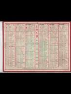 CAL422   ALMANACH   ANNEE  1950  .1950  1950   1950    .calendrier . .+ ..voir Photos Po état - Calendars