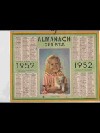 CAL434  ALMANACH   ANNEE  1952 .Bissextile . MON BEAU MINET  FILLETTE  CHAT .  Calendrier. + . CORREZE - Calendars