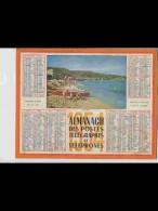 CAL446   ALMANACH  ANNEE  1954  . VACANCES . PEDALOS  CANOE    Par .NISSE CROIX     Calendrier . +  .nord Lille - Calendars