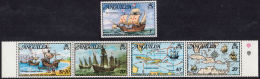 C5114 ANGUILLA 1973, SG 159-63  Columbus Discover The West Indies,  MNH - Anguilla (1968-...)