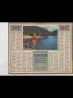 CAL469   ALMANACH  ANNEE  1957 . SUISSE  VACANCES  Au Bord Du Lac.  Calendrier. ..+ .corréze - Calendars