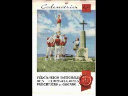 CAL1 - 061  RARE CALENDRIER  1954. COMBATTANTS PRISONNIERS  FEDERATION..environ 21 X 27. BASQUE  CATALANS - Calendars
