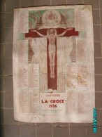 CAL1    P0374.. CALENDRIER DE LA  CROIX   DIEU  1936   Signé SEZZAZ  Paris  33 X 24  Imp .BONNE PRESSE RELIGION - Calendars