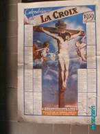 CAL1    P0376.. CALENDRIER DE LA  CROIX   DIEU .CRUCIFIXION  Par BAROCCIA  1939   33 X 24  Imp .BONNE PRESSE RELIGION - Calendars