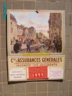 CAL1    P0411  .CALENDRIER 1955  ASSURANCES GENERALES HOTEL  ROQUELAURE PARIS .31 X 25 Avec Poche à Courrier Carton Dur - Calendars