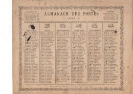 CAL211  .ALMANACH   Des  POSTES   1865 ..ZODIAQUE  OBERTHUR  Livret  Pour La  France - Calendars