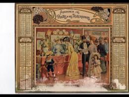 CAL242   ALMANACH  DES POSTES  1906  .faiences Stand  Exposition  Fillete Poupée  A RESTAURER  Grand Pli  Bas Effacé - Calendars