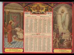 CAL272   ALMANACH  DES  PTT   1951. PILATE JESUS RESURRECTION   SALUS MUNDI   .Magnifique  OLLER  PUTEAUX Pour NORD - Calendars