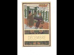 CAL018   1952   DECEMBRE   NOEL  CADEAUX  DESSIN DE POEY   24 X 15,5 Cm   CALENDRIER ..du Mois Au Dos Pub    . - Calendars