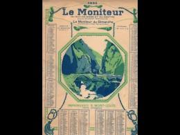 CAL035  .MONITEUR   PUY DE DOME AUVERGNATS .AVION   LITHOGRAPhE  MONT LOUS .CALENDRIER   ALMANACH  1925 .¨. - Calendars