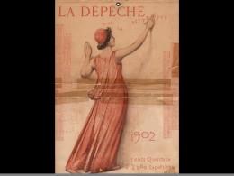 CAL040 .1902  MONITEUR   PUY DE DOME. POUR  La Republique    LITHO.  MONT LOUS .CALENDRIER   ALMANACH  . .¨. - Calendars