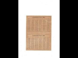 CAL046    .1880    USINE ALEXANDRE  JAILLE  AGEN  .CALENDRIER  BELLES DORURES  . .Ouvert : 33 X 13 Cm. - Calendars