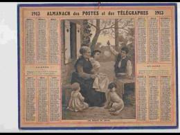 CAL210   ALMANACH DE 1913  BULLES DE SAVON   Feuillets Sur Hérault - Calendars