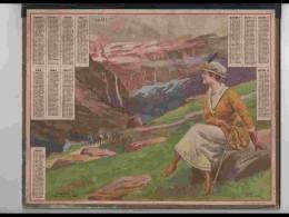 CAL213   ALMANACH DE 1921. FEMME .GAVARNIE  EXCURSION CIRQUE  AQUA DE BEUZON   Double Volet - Calendars