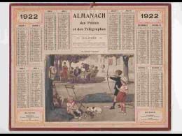 CAL215   ALMANACH DE 1922..TIR A L' ARC  SPORT ENFANTS.  AQUA De Beuzon  ETAT PARFAIT . Hérault - Calendars