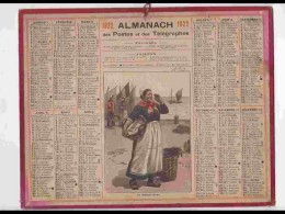 CAL217   ALMANACH DE 1922. .MARCHANDE DE POISSONS  A  LA CRIEE. Aisne - Calendars
