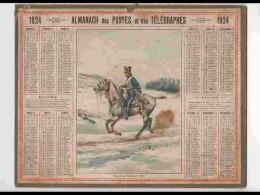 CAL222   ALMANACH DE 1924...HUSSARD  DE  BERCHENY  1805     HERAULT - Calendars