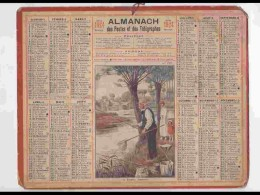 CAL223   ALMANACH DE 1924...PECHEUR FEMME FILLETTE   AISNE  . - Calendars