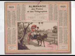 CAL225   ALMANACH DE 1925...FEMMES  VOITURE  A  ANE    Hérault - Calendars