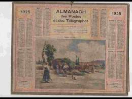 CAL226   ALMANACH DE 1925...ALSACE  FENAISON   NORD - Calendars
