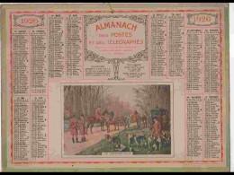 CAL227   ALMANACH DE 1926....CHASSE  RENDEZ VOUS   COURRE   Herault - Calendars