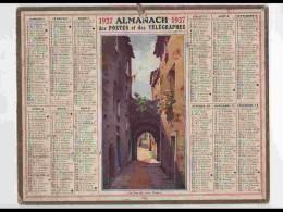 CAL231   ALMANACH DE 1927.. MENTON  VIEUX  06  Nord - Calendars