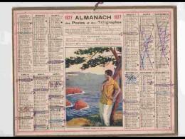 CAL232   ALMANACH DE 1927.. .FEMME AU TRAYAS    Hérault - Calendars