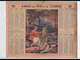 CAL233   ALMANACH DE 1927.. .FEMME .ARTISTE PEINTRE  FONTAINEBLEAU  LEVRIER   SEINE - Calendars
