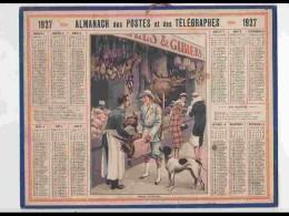 CAL234   ALMANACH DE 1927.. ..CHASSEUR  MARCHAND DE VOLAILLES ET GIBIERS   FEMMES   Hérault - Calendars