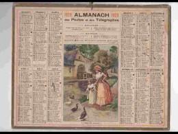 CAL241   ALMANACH DE 1929...REPAS DES CANARDS  FILLETTE    MOULIN   FEMME   AISNE - Calendars