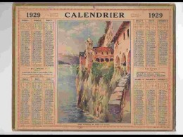 CAL242   ALMANACH DE 1929..SANTA CATHARINA DEL SASSO   LAC MAJEUR - Calendars