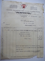 """MARSEILLE (13) SOCIETE FRANCAISE Des HUILES & CARBURANTS """"PERFECTOL"""" - 1 Facture  De 1937 - Cars"""