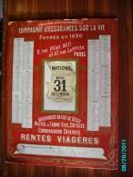 CAL289   CALENDRIER 1907. ASSURANCE LA NATIONALE  17 RUE LAFFITTE PARIS 44 X 33  Dorures  Fraîches Carton Fort - Calendars
