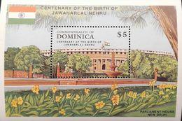 Dominica  1989 Centenary Of The Birth Of Jawaharl Nehru S/S - Dominica (1978-...)