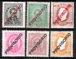 Portogallo 1892 Unif.80/84,86 */MH VF/F - Unused Stamps