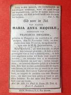 1856 MARIA REQUILE Echtg FRANCISCUS SMOLDERS - TONGEREN - ANTWERPEN 1856 - Images Religieuses
