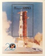Dominica  1989 1rst. Moon Landing,20th. Anniv. S/S - Dominica (1978-...)