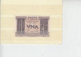 ITALIA   1939 - Biglietto Di Stato - 1 Lira - (FDS) - [ 1] …-1946 : Koninkrijk