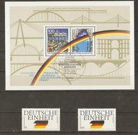 Allemagne Fédérale 1990 - Réunification - Ouverture Du Rideau De Fer - 1309/10 Et BF21 MNH - Ungebraucht