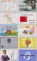 LOT De 10 Télécartes Japon - CROIX ROUGE / Santé Médecine - RED CROSS Japan Phonecards - ROTES KREUZ - 554 - Tarjetas Telefónicas